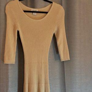 Light pink long sleeve sweater dress